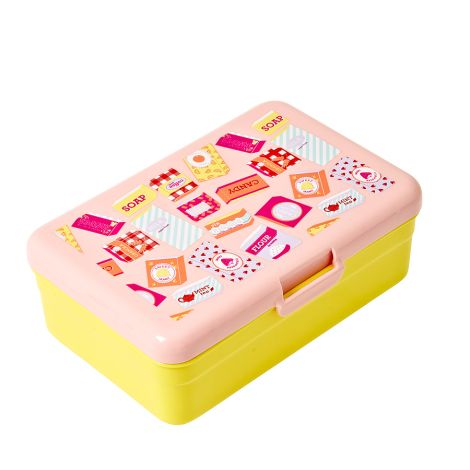 Rice Kinder Lunchbox Brotdose Einkäufe Pink