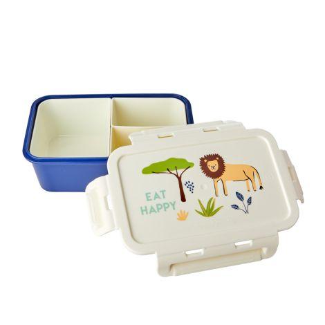 Rice Lunchbox Brotdose mit 3 separaten Dosen Blue Jungle