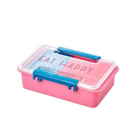 Rice Brotdose Lunchbox Eat Happy Pink