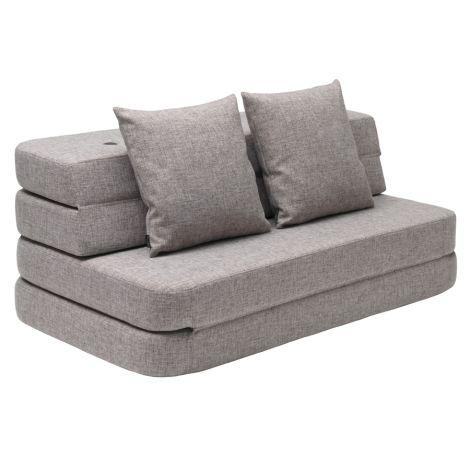 by KlipKlap KK 3 fold Sofa 120 cm Multi Grey/Grey