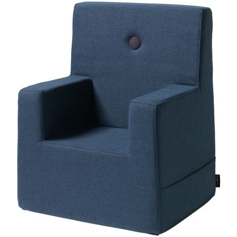 by KlipKlap KK Kids Chair Sessel XL Dark Blue/Black