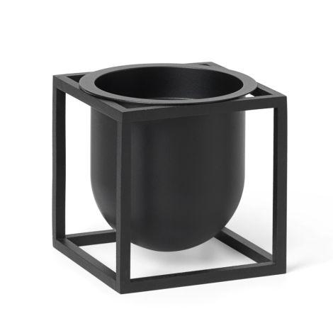 by Lassen Pflanzgefäß Kubus Flowerpot 10 Black