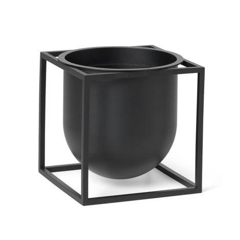 by Lassen Pflanzgefäß Kubus Flowerpot 14 Black