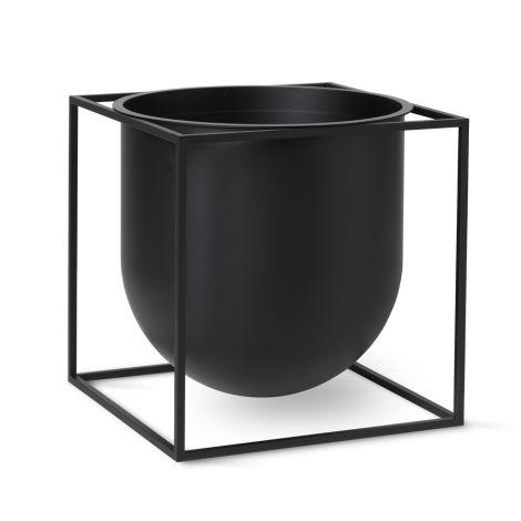 by Lassen Pflanzgefäß Kubus Flowerpot 23 Black