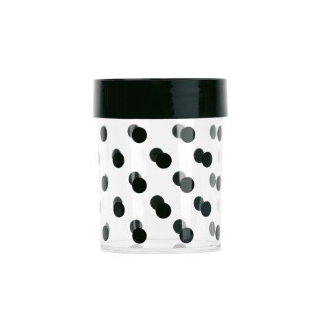 Miss Étoile Aufbewahrungsdose Dots L, schwarzer Deckel
