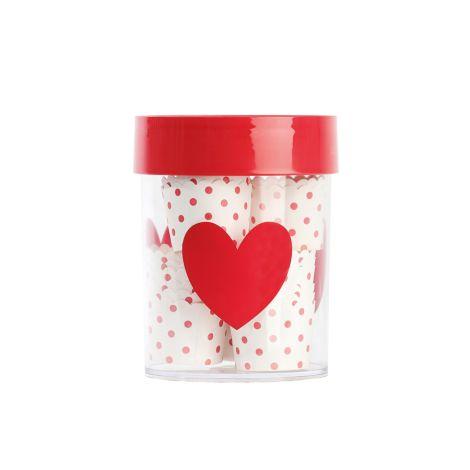 Miss Étoile Aufbewahrungsdose Big Red Heart L, roter Deckel •
