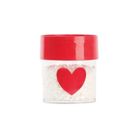 Miss Étoile Aufbewahrungsdose Big Red Heart S, roter Deckel •