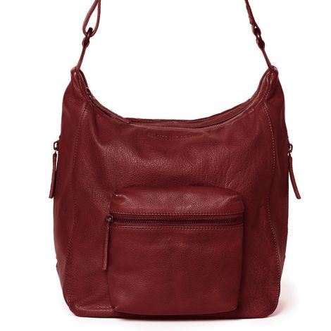 Sticks and Stones Ledertasche Calgary Cherry Red Washed