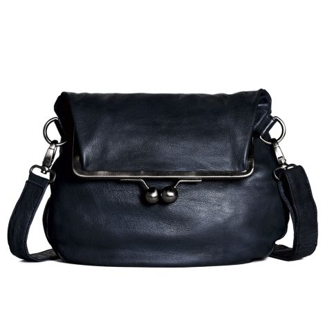 Sticks and Stones Ledertasche Cannes Dark Blue Washed