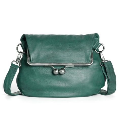 Sticks and Stones Ledertasche Cannes Green Spruce Washed