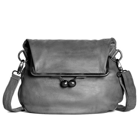 Sticks and Stones Ledertasche Cannes Light Grey Washed