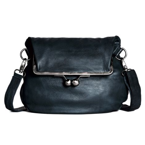 Sticks and Stones Ledertasche Cannes Marine Blue Washed