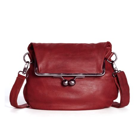 Sticks and Stones Ledertasche Cannes Red Washed