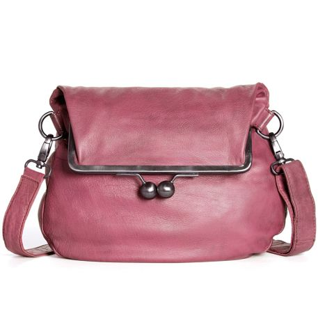 Sticks and Stones Ledertasche Cannes Ruby Red Washed