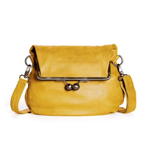 Sticks and Stones Ledertasche Cannes Yellow Washed