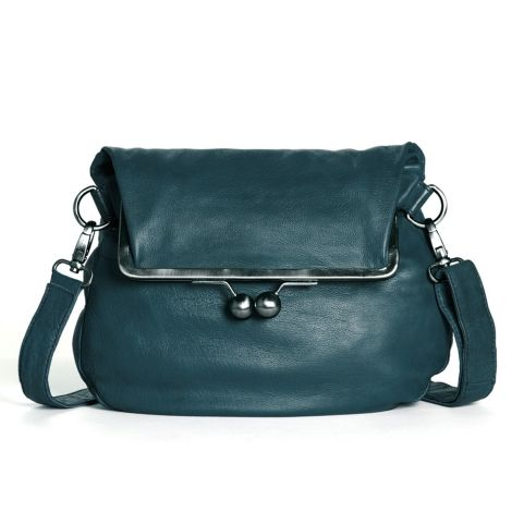 Sticks and Stones Ledertasche Cannes Dusty Petrol Washed