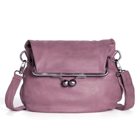 Sticks and Stones Ledertasche Cannes Mauve Pink Washed