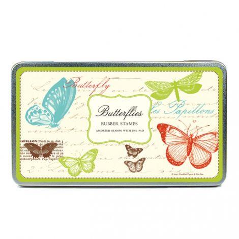 Cavallini Stempelset Butterfly •