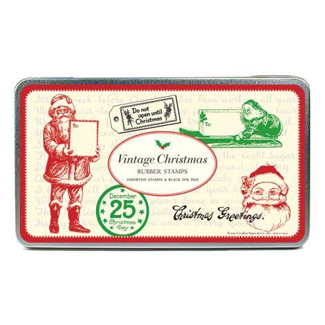 Cavallini Stempelset Vintage Christmas •