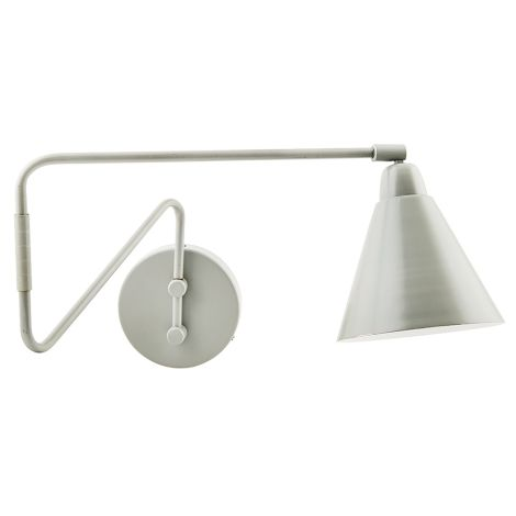 House Doctor Wandlampe Game Grau, langer Arm