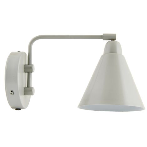 House Doctor Wandlampe Game Grau, kurzer Arm