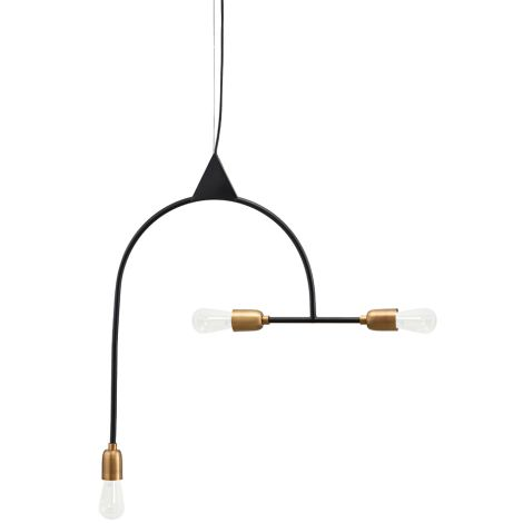 House Doctor Deckenlampe Arch Black/Brass