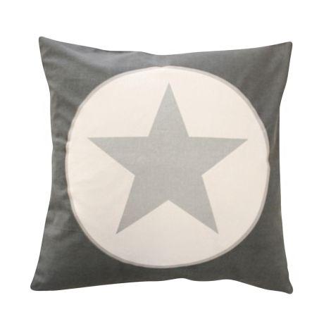 Krasilnikoff Kissenbezug Charcoal Big Star