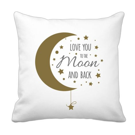 Krasilnikoff Kissenbezug Love you to the moon and back