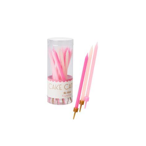 Rice Kuchenkerzen Pink 16 Stk. •