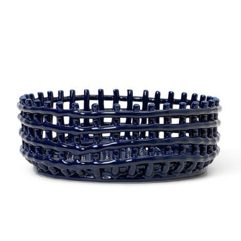 ferm LIVING Schale Keramik-Centrepiece Blue