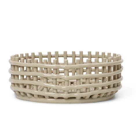 ferm LIVING Schale Keramik-Centrepiece Cashmere