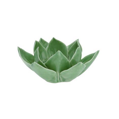 GreenGate Kerzenhalter Flower Lotus Pale Green Small