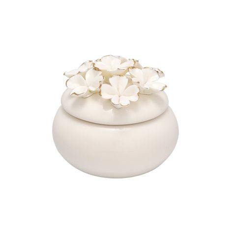 GreenGate Schmuckkästchen Flower White/Gold