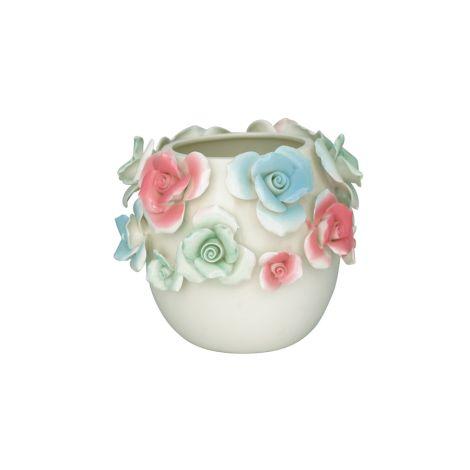 GreenGate Aufbewahrungsgefäß Vase Rose Multicolor Medium