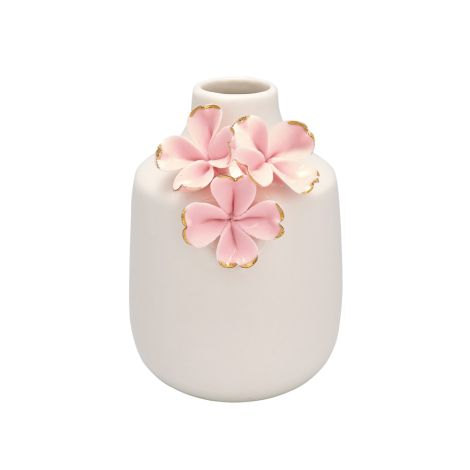 GreenGate Vase Flower Pale Pink/Gold Small