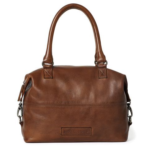 Sticks and Stones Ledertasche Charleston Cognac •