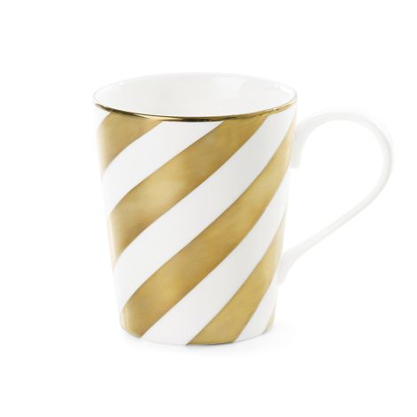 Miss Étoile Kaffeetasse Diagonal Stripe Gold
