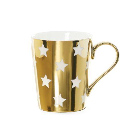 Miss Étoile Kaffeetasse Stars Gold/Weiß