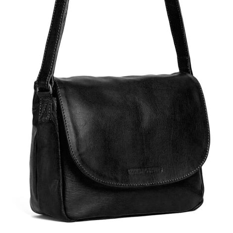 Sticks and Stones Ledertasche Columbia Black Washed