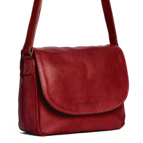 Sticks and Stones Ledertasche Columbia Red Washed