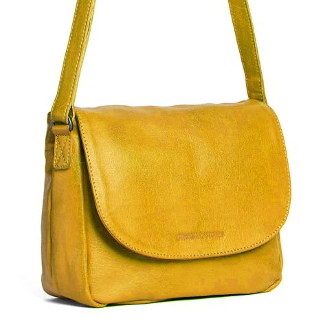 Sticks and Stones Ledertasche Columbia Yellow Washed