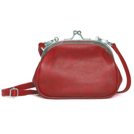 Sticks and Stones Ledertasche Como Red Washed