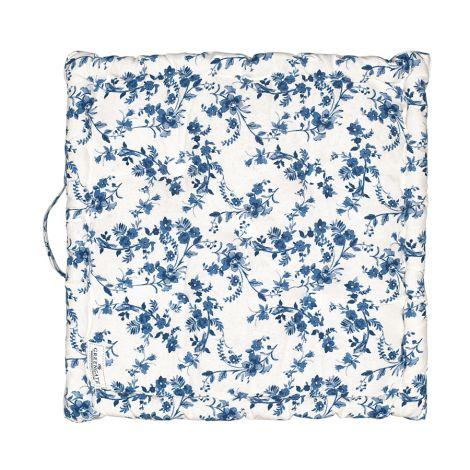 GreenGate Sitzkissen Vanessa Blue 50x50