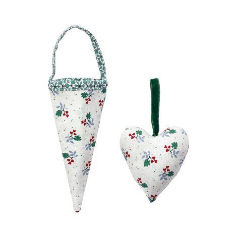 GreenGate Weihnachtsbaumanhänger Joselyn Green 2er-Set