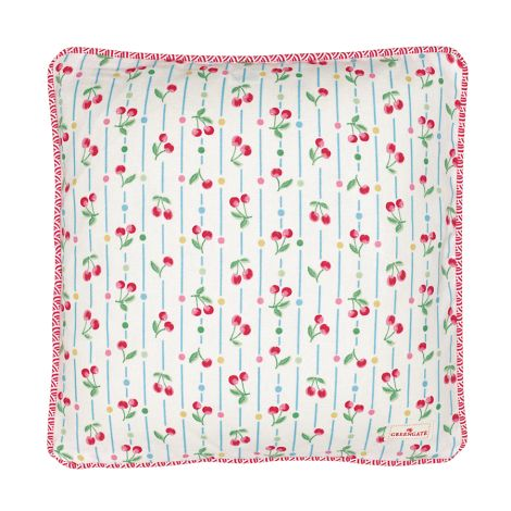 GreenGate Kissenhülle Cherry White 40x40