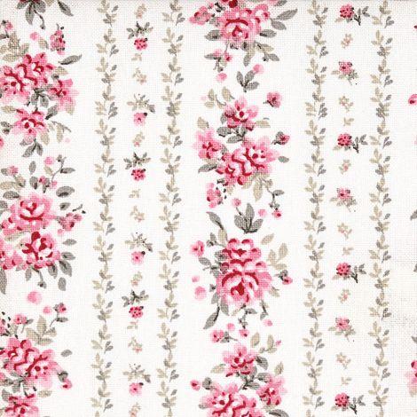 GreenGate Baumwollstoff Flora Vintage •