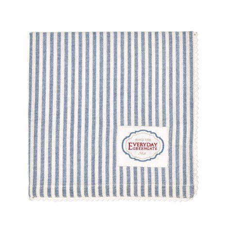 GreenGate Stoffserviette mit Spitze Alice Stripe Blue •
