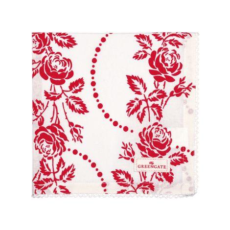 GreenGate Stoffserviette Fleur Red •