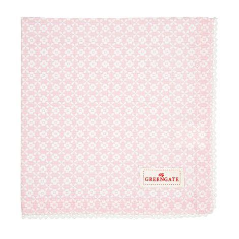 GreenGate Stoffserviette mit Spitze Helle Pale Pink