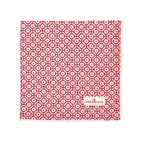 GreenGate Stoffserviette Jasmina Red